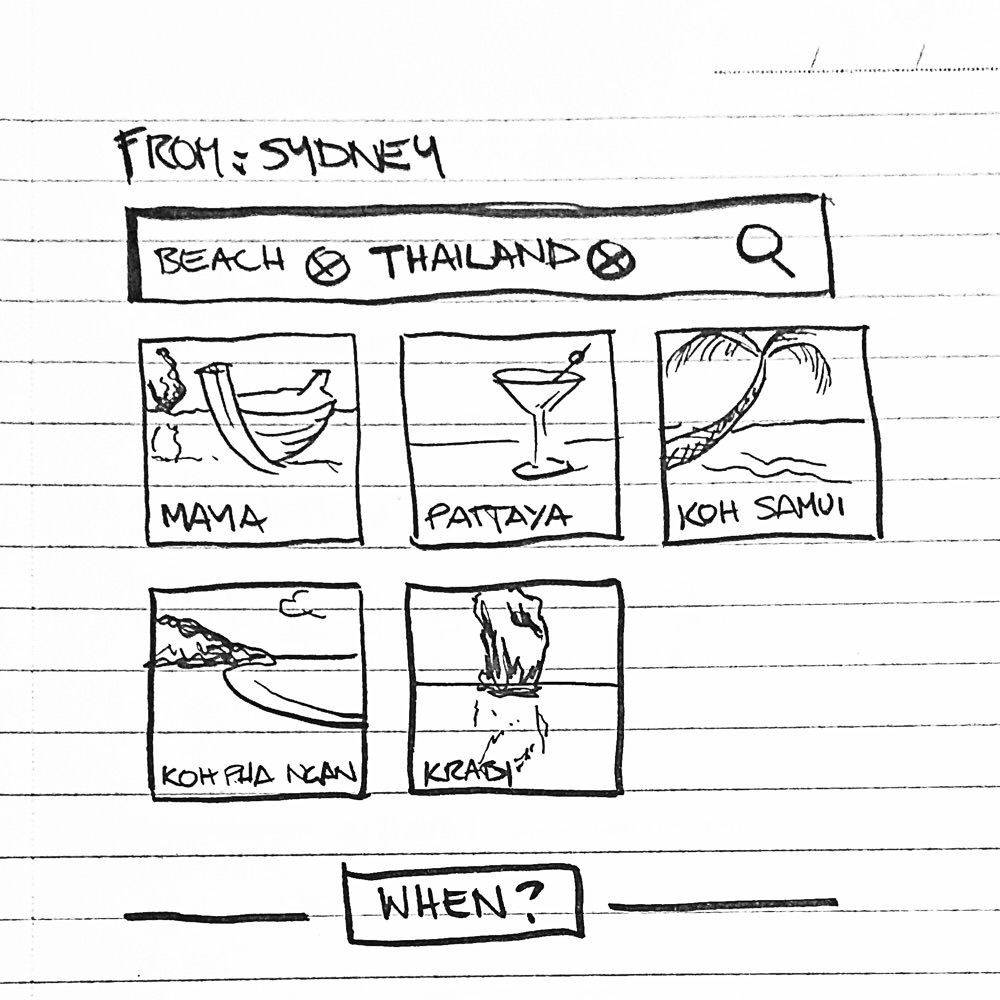 flight search concept sketch