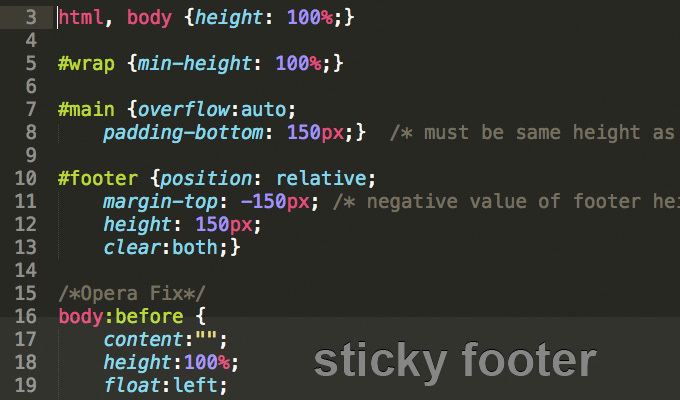 Css sticky footer sticks your footer to the bottom of the page css sticky footer maxwellsz