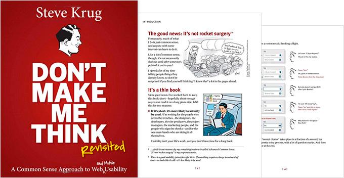 Dont make me think - UX design book