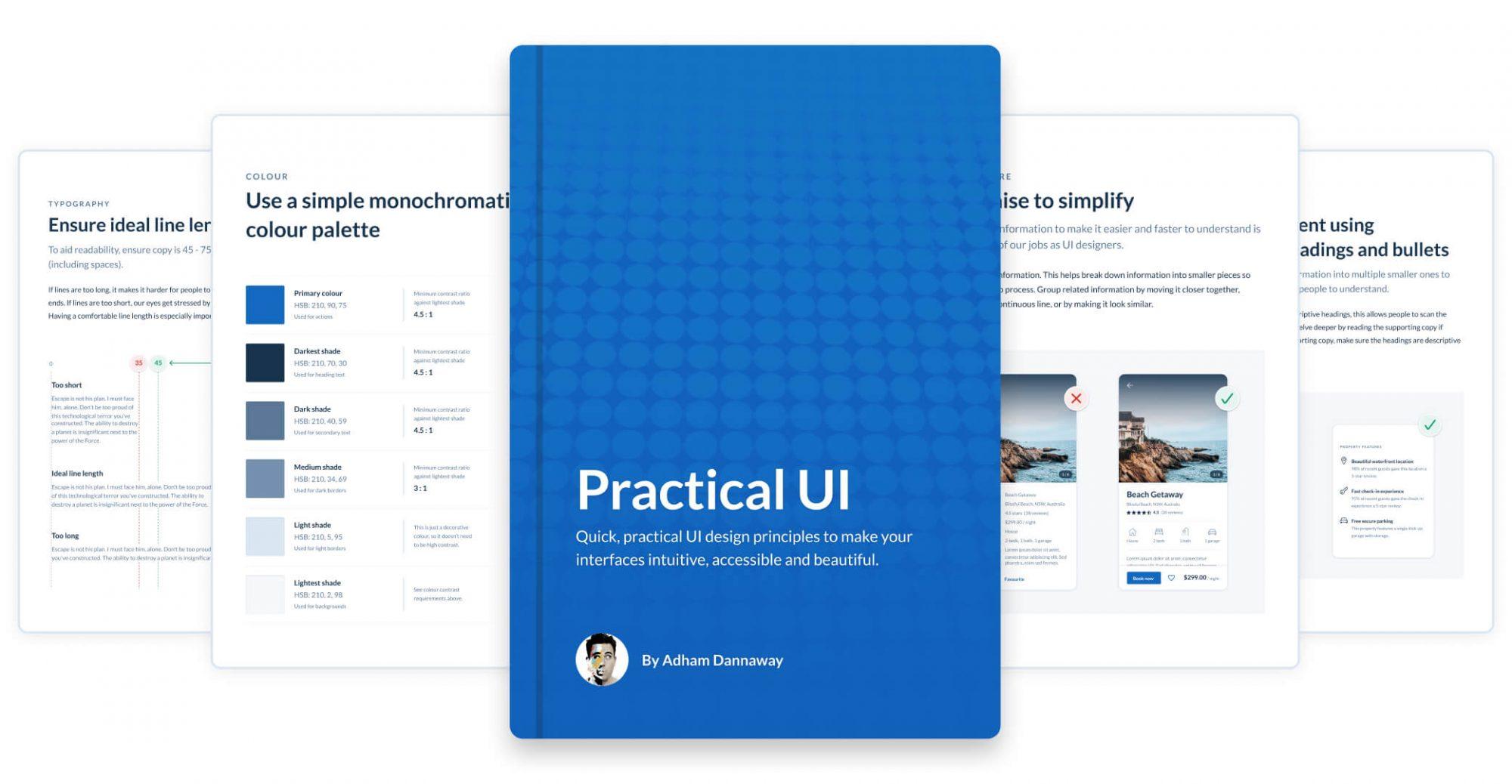UI design book by Adham Dannaway