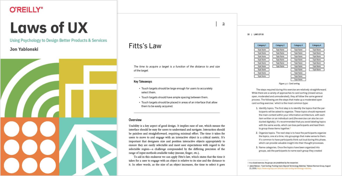 Laws of UX book
