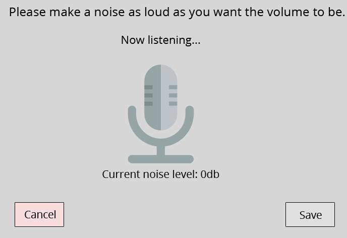 Microphone based volume control